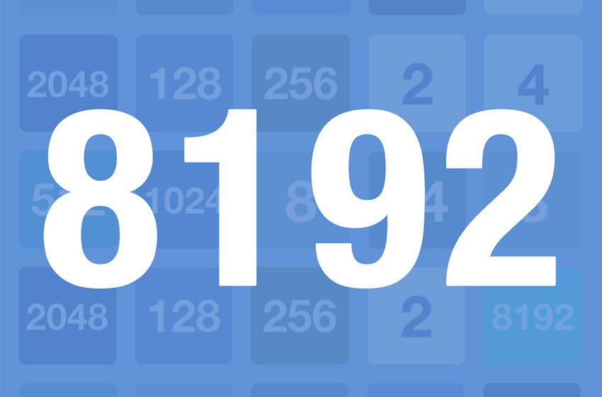 Game 8192 released for iOS