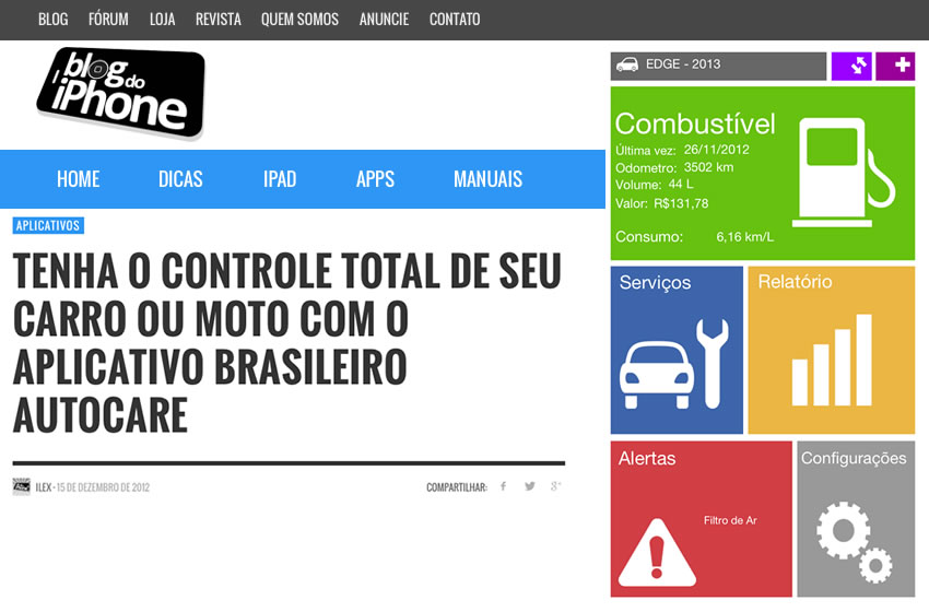 Review: AutoCare at Blog do iPhone