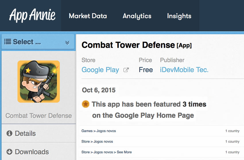 Combat Tower Defense featured on Play Store main page !!!