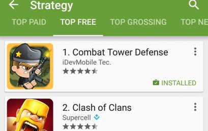 Combat Tower Defense is Rank #1 Strategy Game on Google play