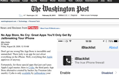 iBlacklist featured at The Washington Post
