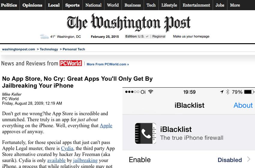 iBlacklist featured at The Washington Post