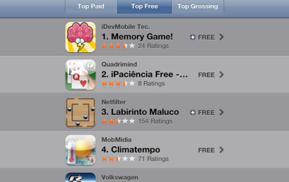 Memory Game is Rank #1 at Brazil AppStore