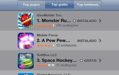 Monster Rush is Rank #1 Game at AppStore