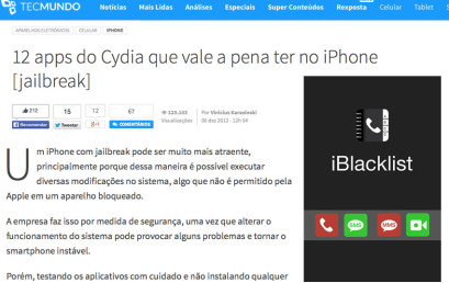 iBlacklist featured at TecMundo