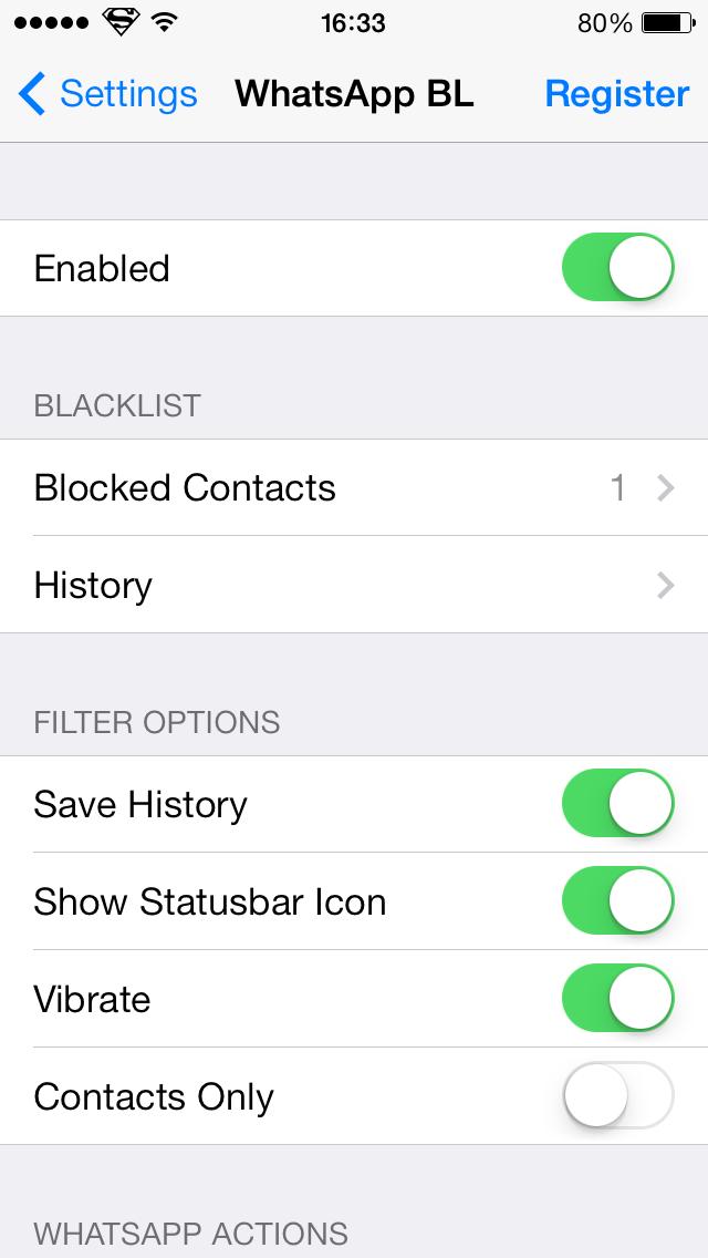 WhatsApp Blacklist